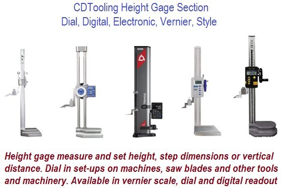 Height Gage Section