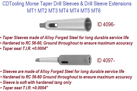 Drill Sleeves MT Morse Taper