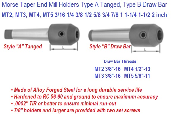 MT Morse Taper End Mill Holder
