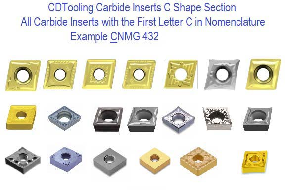 C Shape Carbide Inserts 80 Degree Rhombic