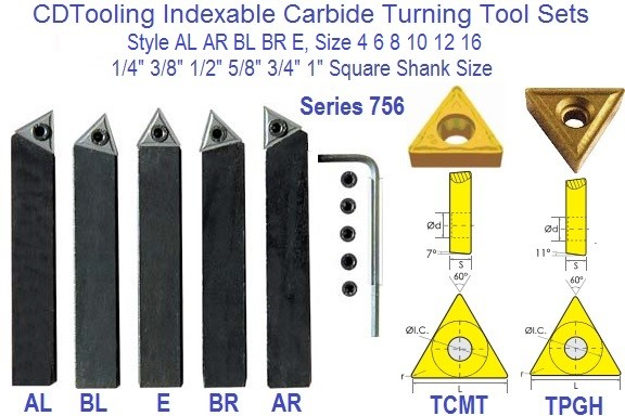1//2 Internal//External Threading Tool Indexable HSS Triangle Inserts