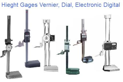 Height Gage Vernier, Dial, Electronic Digital 12
