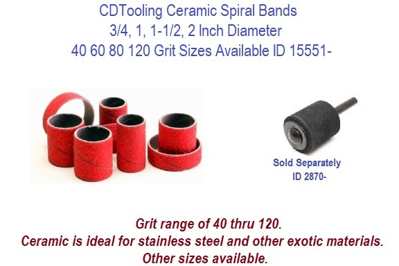 100 Units Standard Abrasives Spiral Band, ID x L Aluminum Oxide : 1//2 x 1 120 Grit