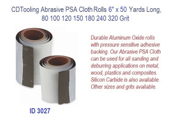 Abrasive PSA Cloth Rolls 6